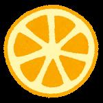 フルーツのマーク(みかんの断面)