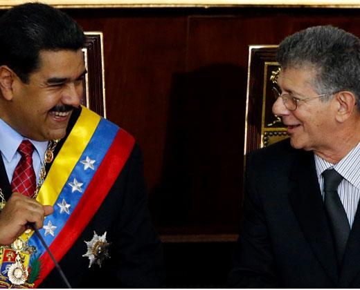 """La """"broma"""" de Maduro con la yuca y Ramos Allup (+Video)"""