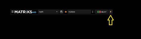 Matriks Web Trader Toolbar