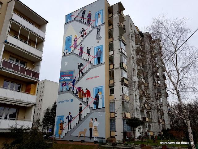 Warszawa Warsaw streetart mural muralart warszawskie murale Ursynów serial filmowy