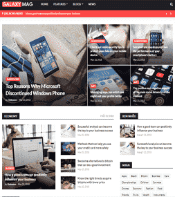 Chia sẻ giao diện blog tin tức GalaxyMag bản Premium