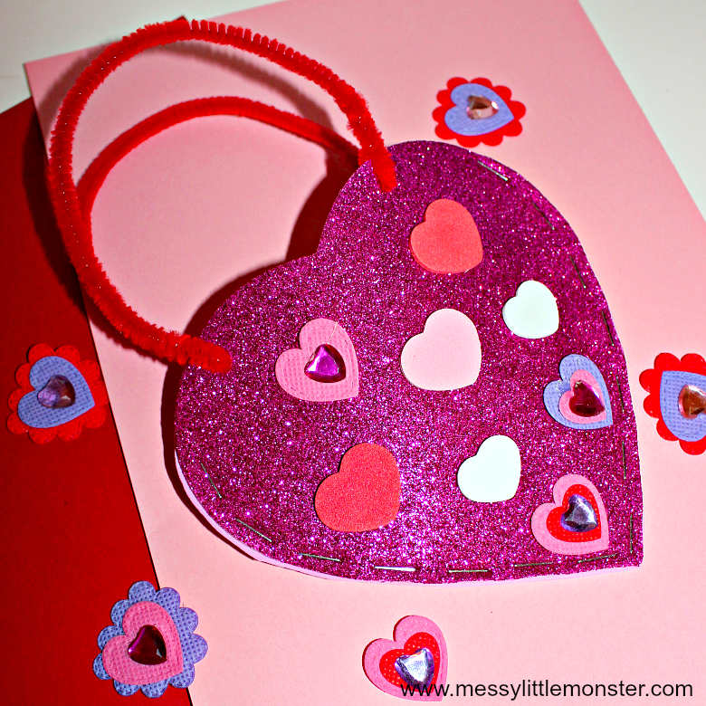 Easy Heart Bag Craft Messy Little Monster