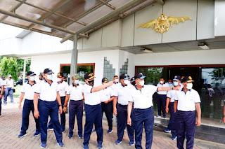 Kunjungan Kasal Ke puskopaska di Semarung Surabaya
