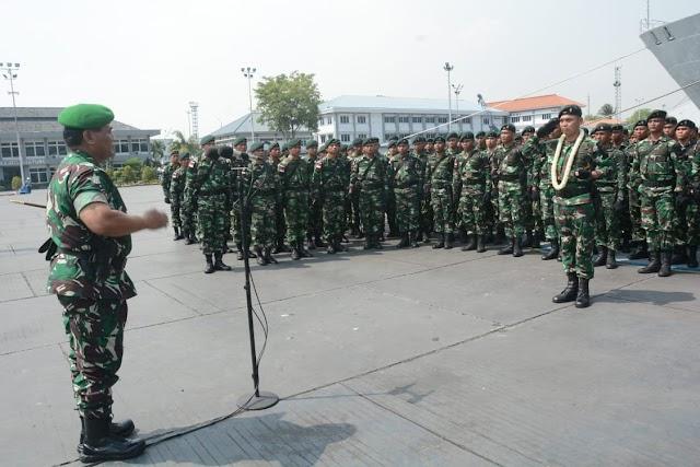 Pangdam III/Siliwangi Sambut Kedatangan Satgas Pamtas Yonif Raider 301/Pks