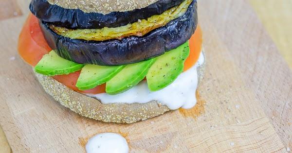 sarahs krisenherd after work meal vegetarische auberginen burger. Black Bedroom Furniture Sets. Home Design Ideas