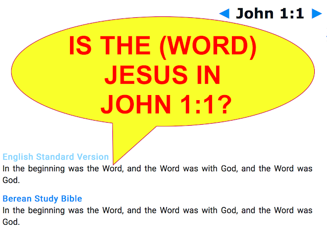 IS THE WORD JESUS IN JOHN 1:1?