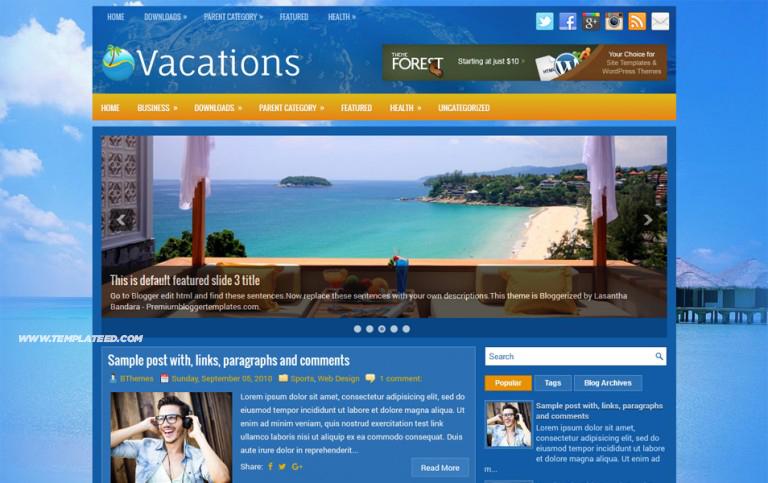 Responsive Travel Blogger Templates