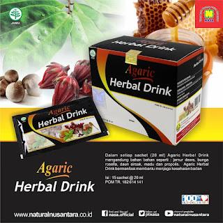 Agaric Herbal Drink, produk minuman kesehatan NASA