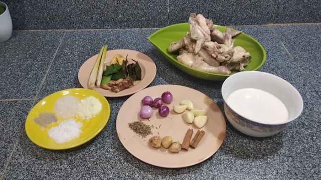 bahan-bahan opor ayam