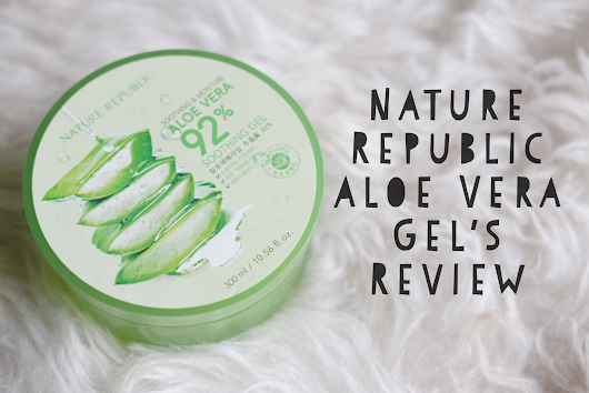 Haniva Az Zahra | Lifestyle Blog: Skincare Review: Nature Republic Aloe Vera 'Soothing' Gel
