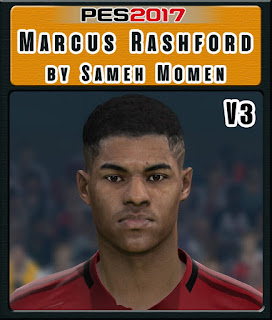 PES 2017 Faces Marcus Rashford by Sameh Momen