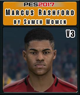 PES 2017 Faces Marcus Rashford by Sameh Momen