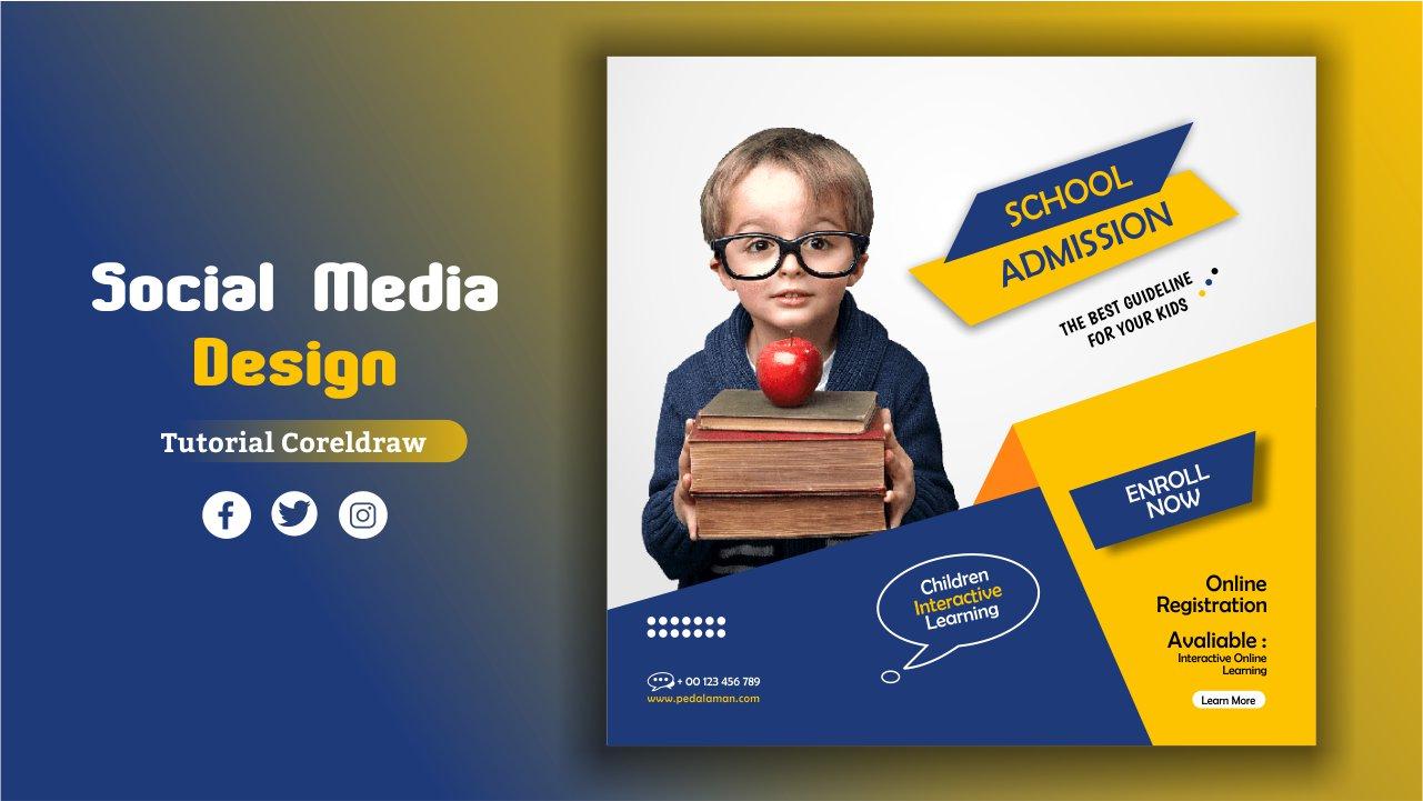 Membuat desain flyer pendidikan