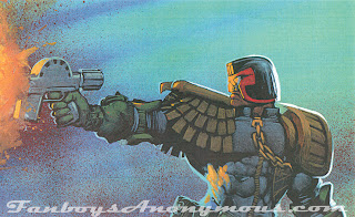 A panel with judge dredd shooting creeps