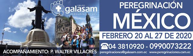 PEREGRINACIÓN A MÉXICO  DEL 20 AL 27 FEBRERO DEL 2020