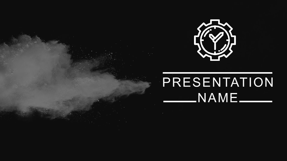 Black wallpaper ppt with smoke effect