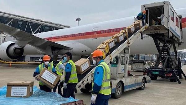 Datang Lagi, 40 Ton Bantuan Alkes Corona dari China