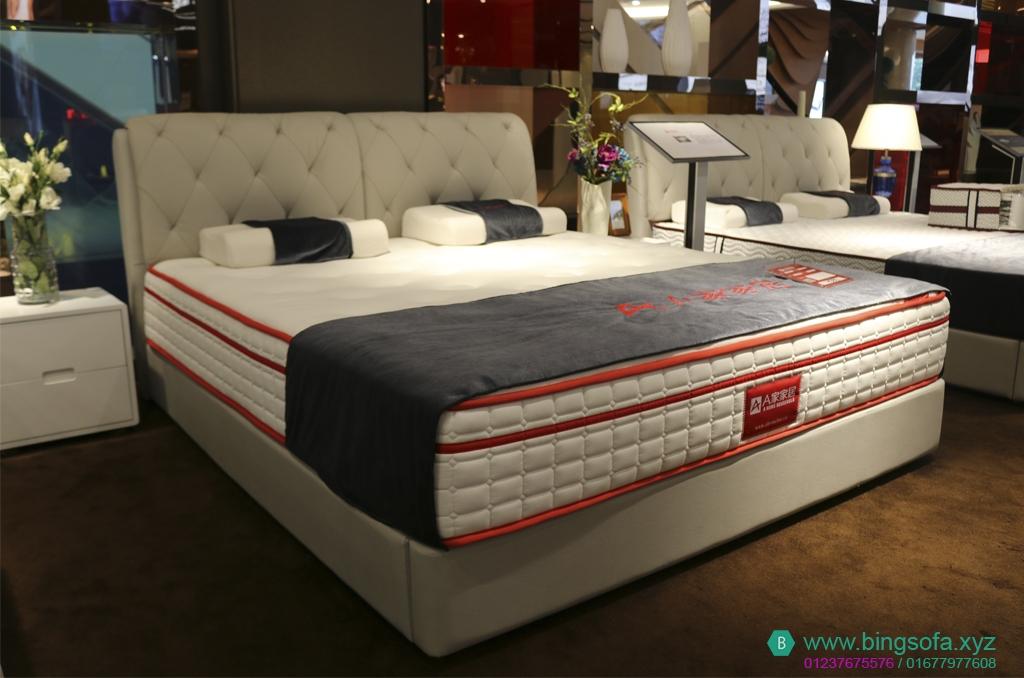 Giường ngủ bọc nệm vải hiện đại cao cấp GN17