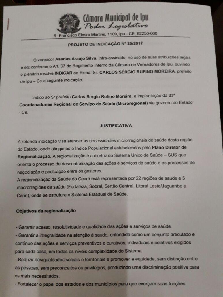Ipu ce asarias destaca a extin o do tcm e fala sobre for Savio 724 ex manuale