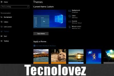 Windows 10 -  Come rimuovere tutti i temi installati