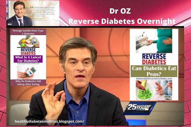 Dr Oz Reverse Diabetes Overnight