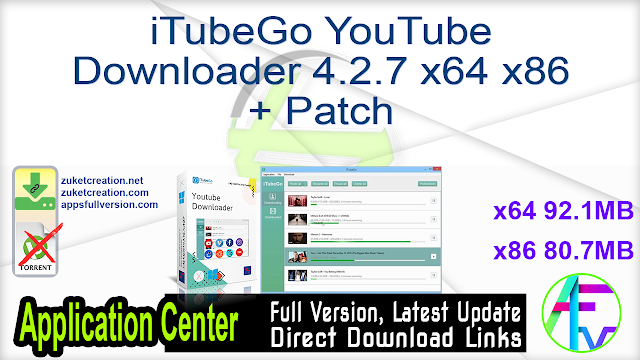 iTubeGo YouTube Downloader 4.2.7 x64 x86 + Patch