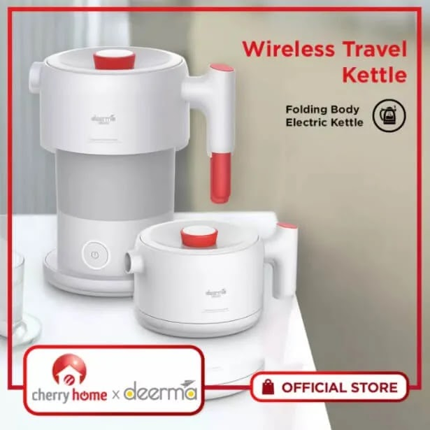 Cherry Home Deerma Wireless Foldable Travel Kettle; Yours for Only Php1,490