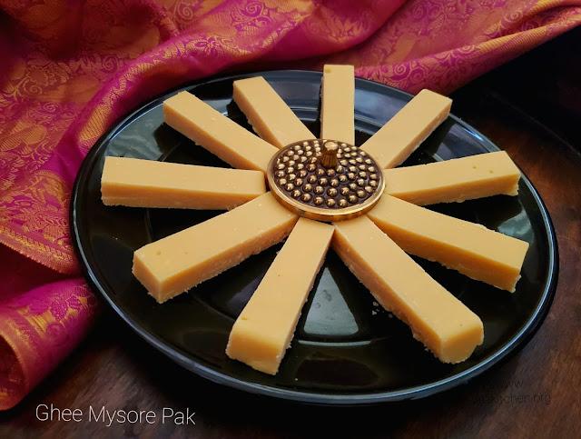 images of Ghee Mysore Pak Recipe / Mysore Pak Recipe / Sri Krishna Sweets Mysore Pak / Krishna Sweets Style Mysorepak / Soft Mysore Pak Recipe