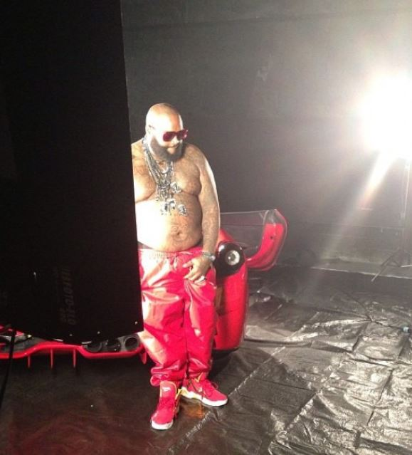 Celeb Sneaker Game  Rick Ross Rocking Reebok Kamikaze II Houston ... 1bb93b495