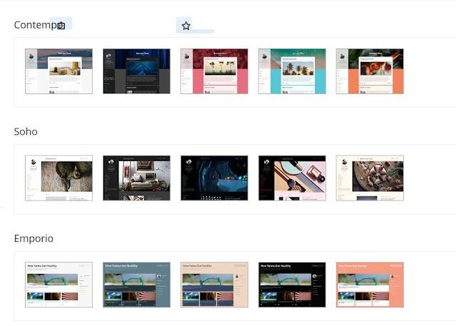 contoh template yang di sediakan Blogger