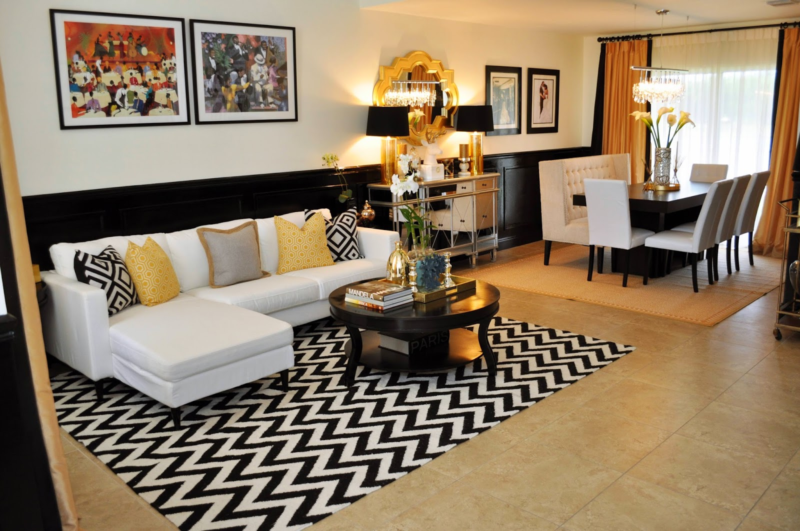 black white and gold living room live laugh decorate a black white and gold reveal 24053