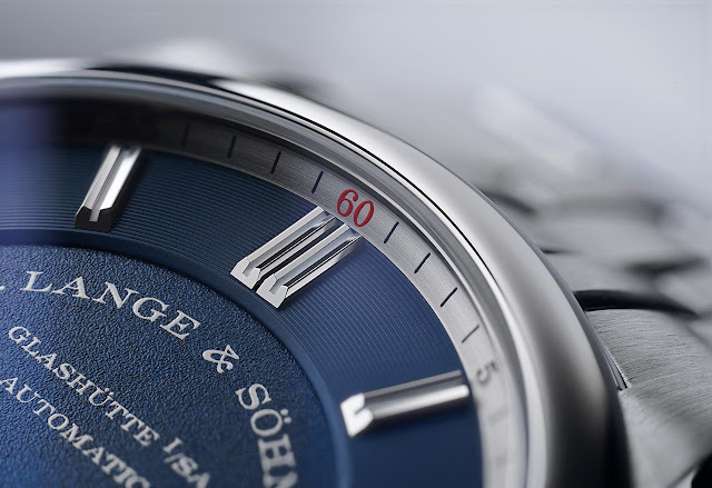 "The red ""60"" of the A. Lange & Söhne Odysseus Datomatic"