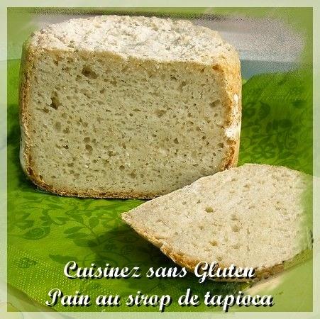 Pain sans gluten avec sirop de tapioca et compote de pommes à la machine à pain