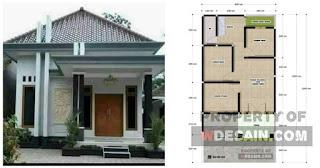 Desain Rumah 6x12 3 Kamar 1 Garasi Dan Taman Belakang - DESAIN RUMAH  MINIMALIS