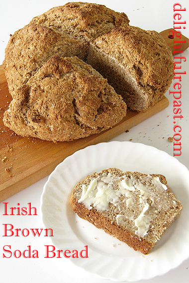 Irish Brown Soda Bread / www.delightfulrepast.com
