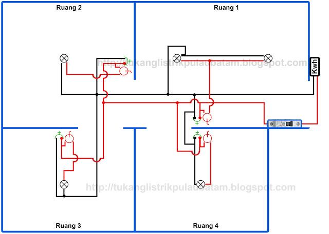 Gambar diagram instalasi listrik rumah type 1 line