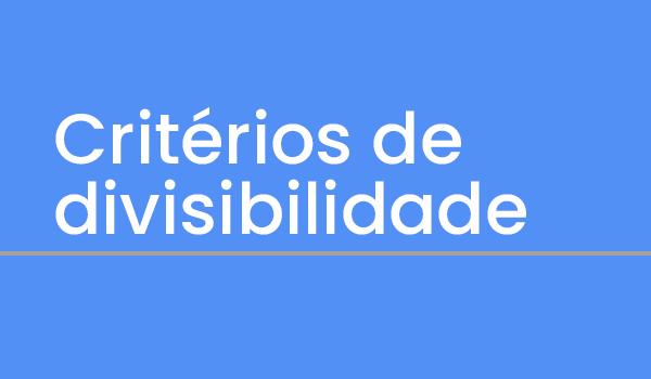Questões sobre Critérios de divisibilidade com Gabarito