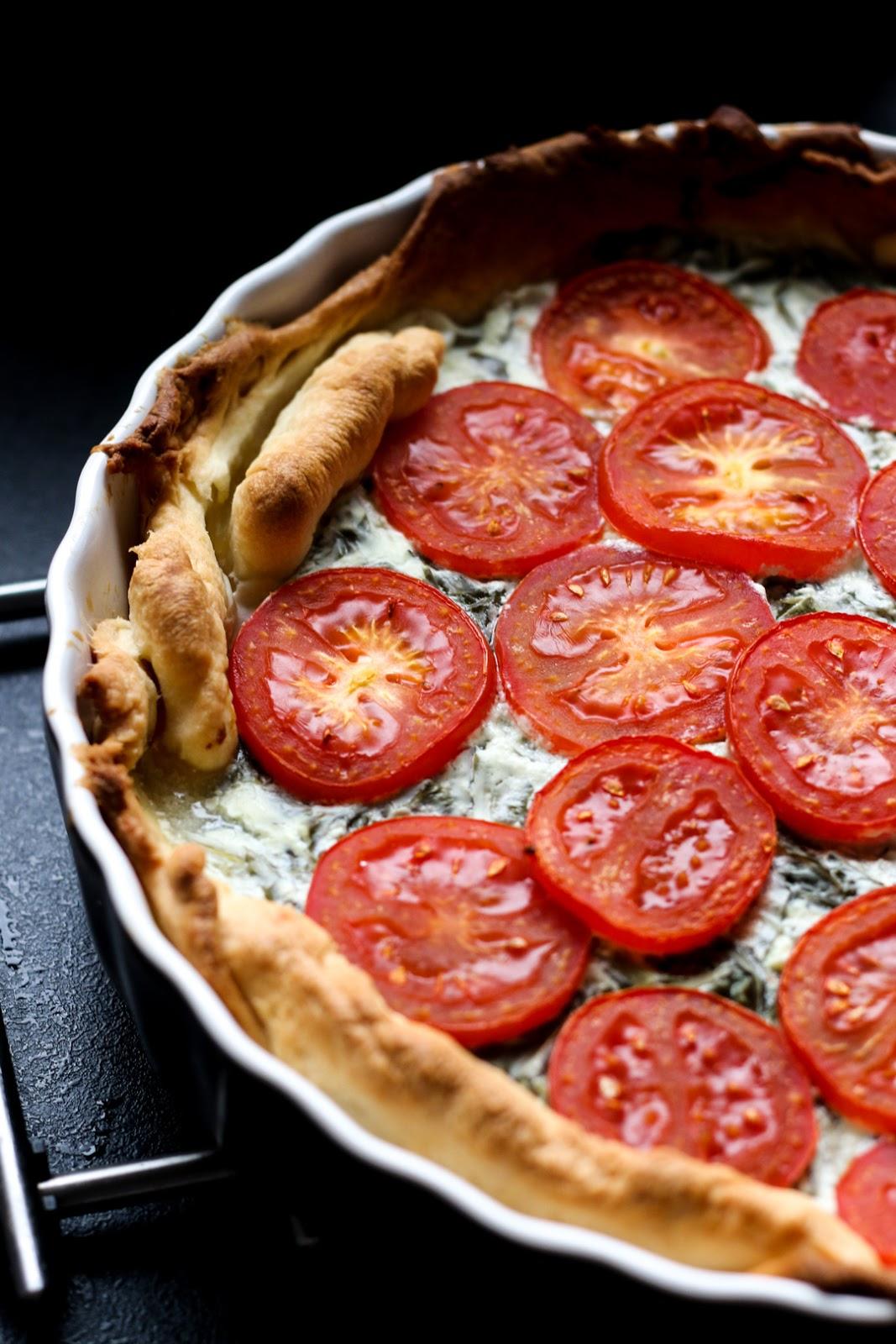Bärlauch, Tarte, Frühlingsküche, Frischkäse, Fleurcoquet, Tomaten