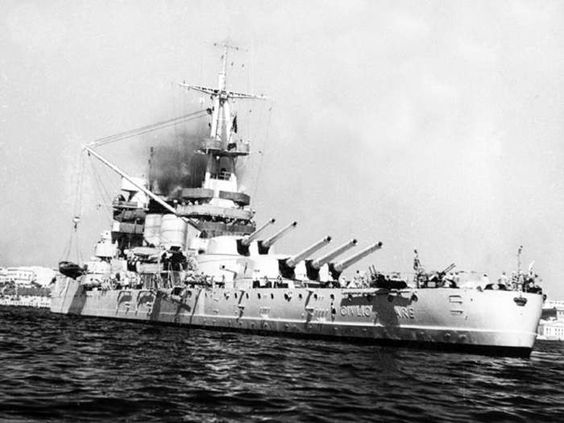 9 July 1940 worldwartwo.filminspector.com Italian battleship Conte di Cavour