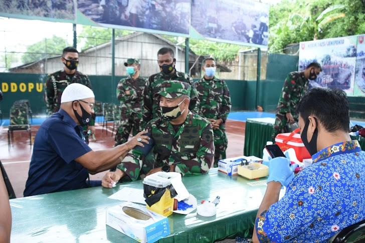 Danrem 141/Tp, Hadiri Baksos Donor Darah Dalam Rangka Hari Juang TNI AD TA 2020 ke 64