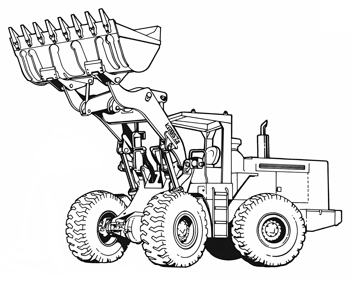 Free Coloring Pages Of Front Loader
