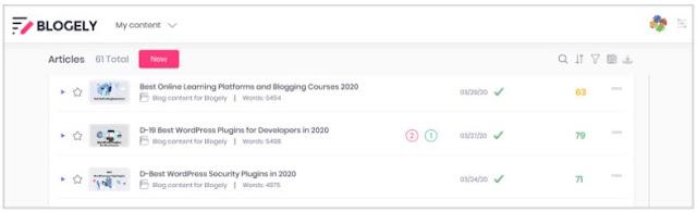 blogely blog content manager software blogging seo program