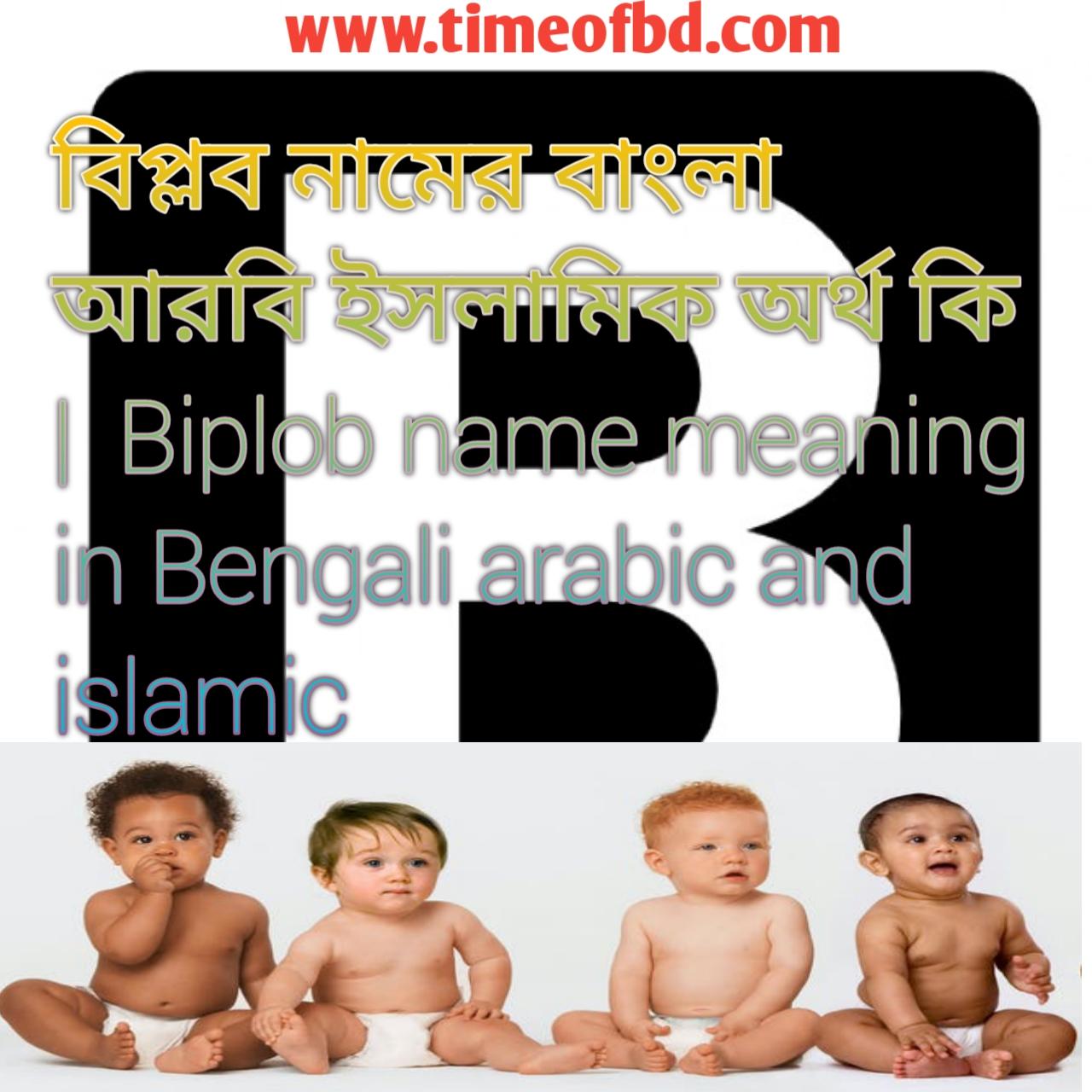 বিপ্লব নামের অর্থ কি, বিপ্লব নামের বাংলা অর্থ কি, বিপ্লব নামের ইসলামিক অর্থ কি, Biplob name in Bengali, বিপ্লব কি ইসলামিক নাম,