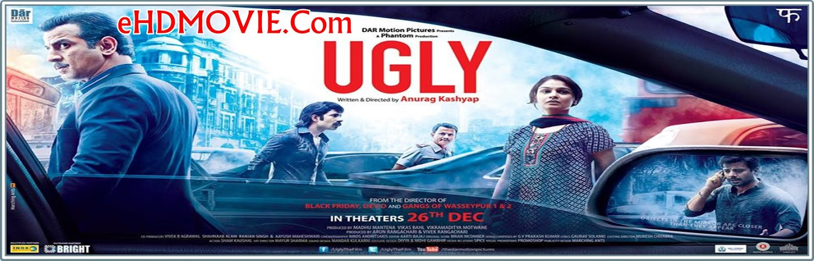 Ugly 2013 Full Movie Hindi 720p - 480p ORG BRRip 450MB - 1.3GB ESubs Free Download