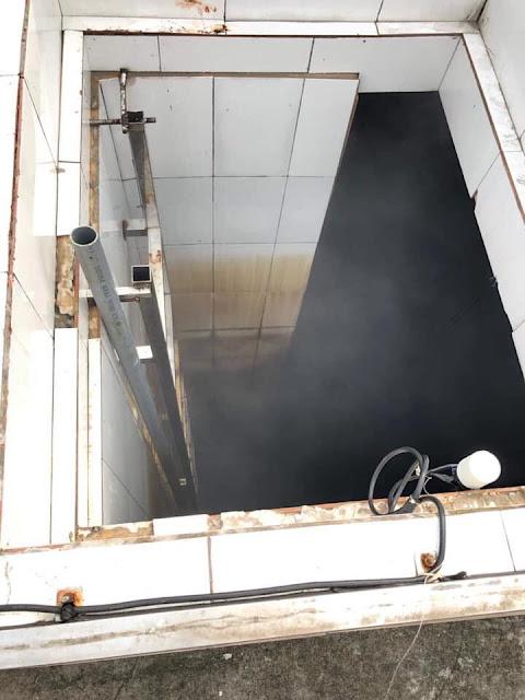 Bể cấp nước bẩn cho cho dân cư sống tại chung cư Hoà Bình Green City?