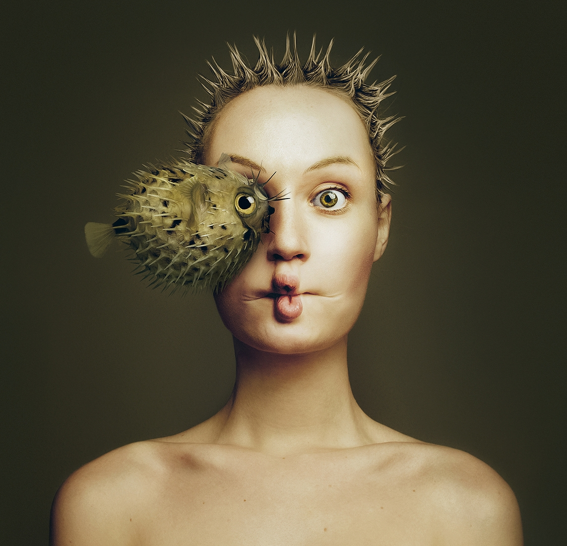06-Puffer-Fish-Flora-Borsi-Animeyed-Self-Portraits-Surreal-Photographs-www-designstack-co