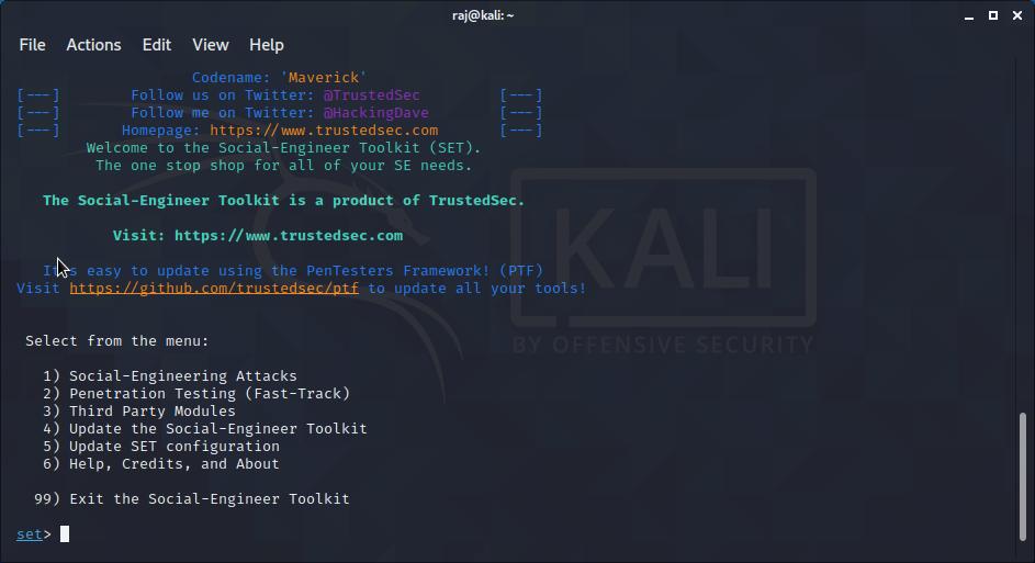 Credential Harvester Attack Method Social engineering attack-Se-toolkit tutorial