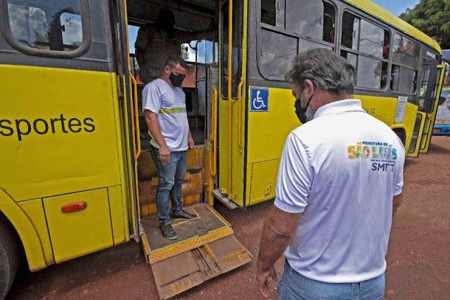 Reforçada fiscalização de ônibus do sistema de transporte de São Luís