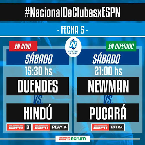 Duendes - Hindú (en vivo, Nacional de Clubes, ESPN 3