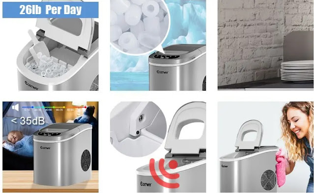 Costway Portable And Compact Ice Maker Machine